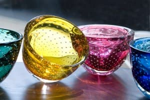 Sawbridge Studios Colorful Glass Bubble Bowls