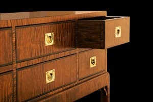 Sawbridge Studios Tiger Maple Chest on Stand