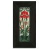 4x12 Amaryllis tile in Red with Ebony Frame