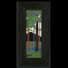 4x12 Pine Landscape Tile in Ebony Frame