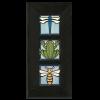 4x4 Animal Framed Tile Set in Light Blue with Ebony Frame
