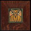 4x4 Owl in Green Oak with Oak frame
