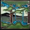 4x4 Pine Landscape Summer Mountain Tile
