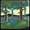 4x4 Pine Landscape Summer Valley Tile