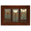 4x8 Dard Hunter Trio Framed Tile Set in Oak