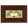 4x8 Lovebirds Tile in Oak frame