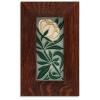 4x8 Peony tile in Grey Blue with Oak Frame