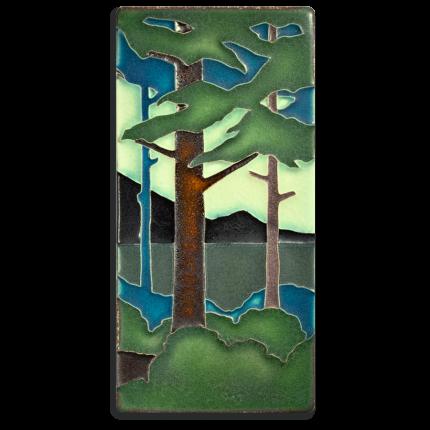 4x8 Summer Pine Landscape Tile, Vertical