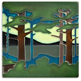 8x8 Pine Landscape Summer Valley Tile