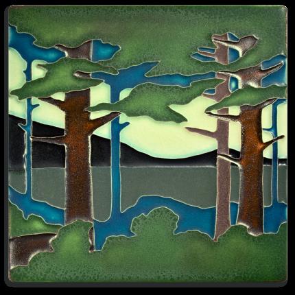 8x8 Pine Landscape Summer Valley Tile