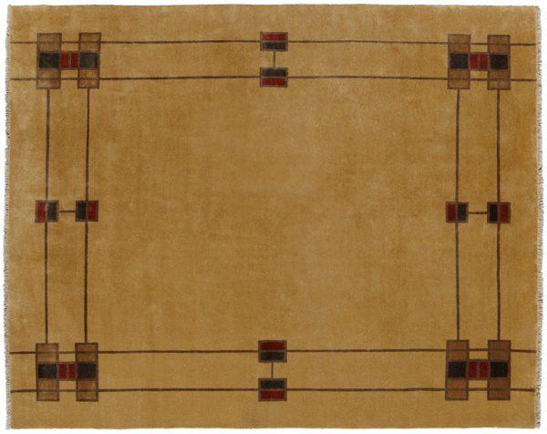 Camel Prairie Border Rug Design