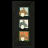 Charley Harper Hares Framed Tile Set