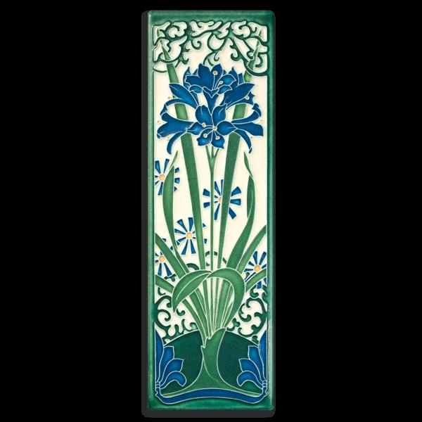 China Blue Amaryllis Tile