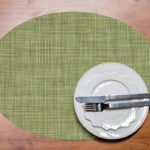 Dill Mini Basketweave Oval Placemat