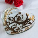 Florentine Glass Heart Plate