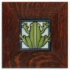 Frog Tile in Oak Frame