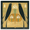 Golden Songbirds Tile
