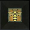 Green Bee in Ebony Frame