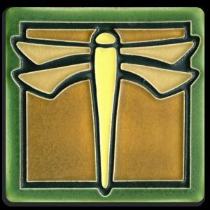 Green Dragonfly Tile