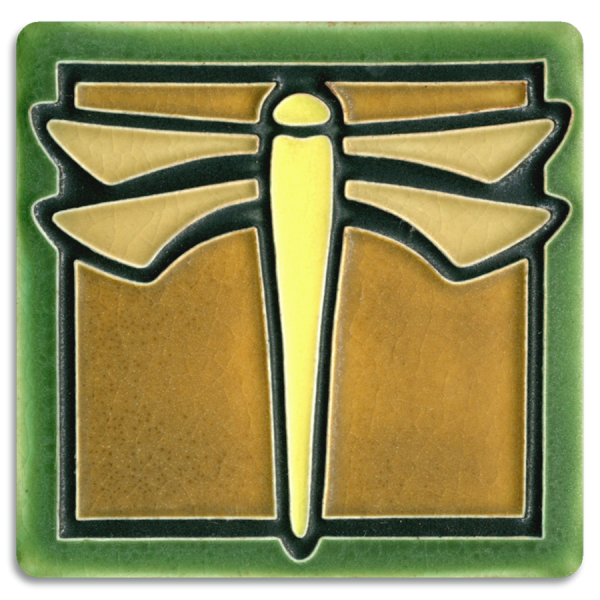 Green Dragonfly Tile