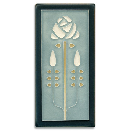 Grey Blue Long Stem Tile