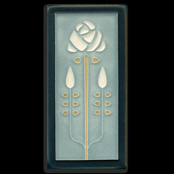 Grey Blue Long Stem Tile