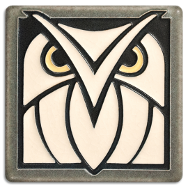 Grey White Owl Tile