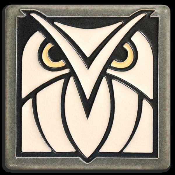 Grey White Owl Tile