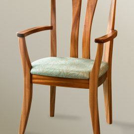 High Back Asian Arm Chair