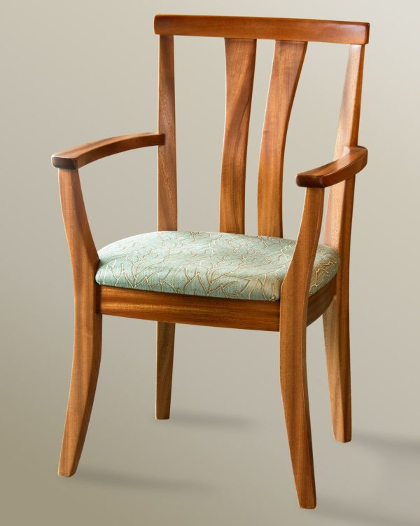 High Back Asian Arm Chair