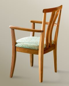 High Back Asian Arm Chair (rear view)