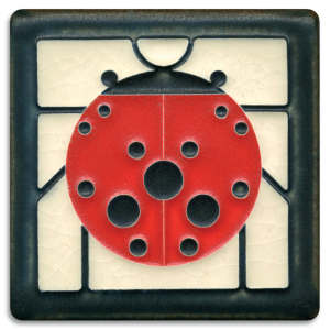 Ladybug with Border Tile