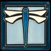 Light Blue Dragonfly Tile