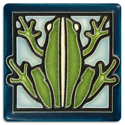 Light Blue Frog Tile