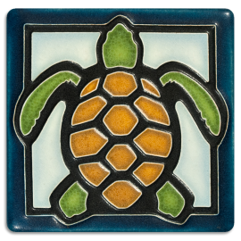 Light Blue Turtle Tile