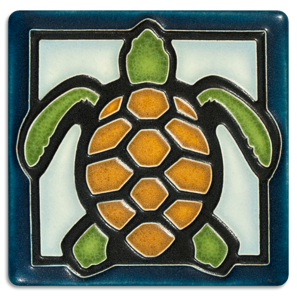 Light Blue Turtle Tile