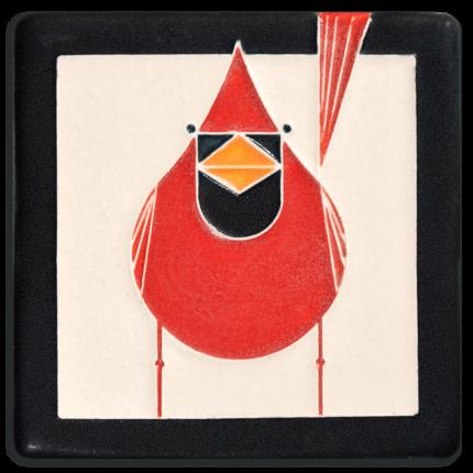Male Cardinal Tile