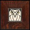 Owl in Oak Frame
