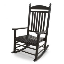 Polywood Jefferson Rocking Chair in Black