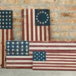Reclaimed Barnwood American Flags