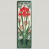 Red Amaryllis 4x12 Tile