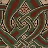 Red Celtic Knot Rug accent detail