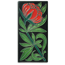 Red Peony Tile