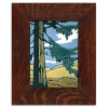 Redwood in Oak Frame