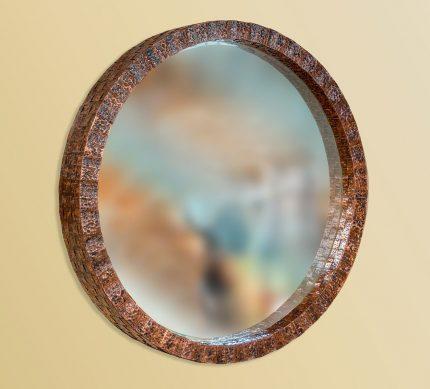Round Copper Mirror