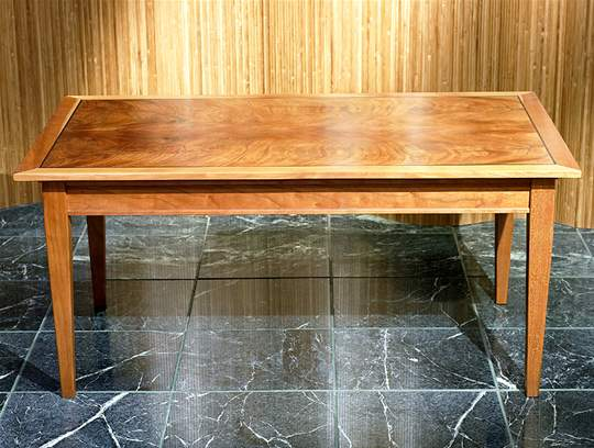 Rectangular Exotic Wood Coffee Table