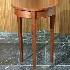 "Round 18"" Walnut Side Table"