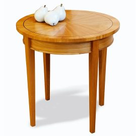 "24"" Cherry Round Side Table"