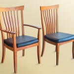 Winged Dining Chairs (Leather Seat)