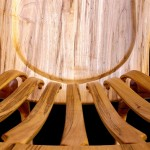 Spalted Maple Rocker Seat Detail